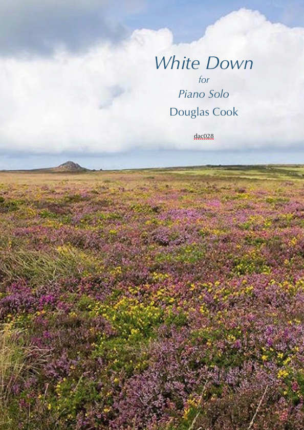 Score cover for piano piece White Down